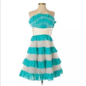 Betsey Johnson Evening Ruffle front heritage dress